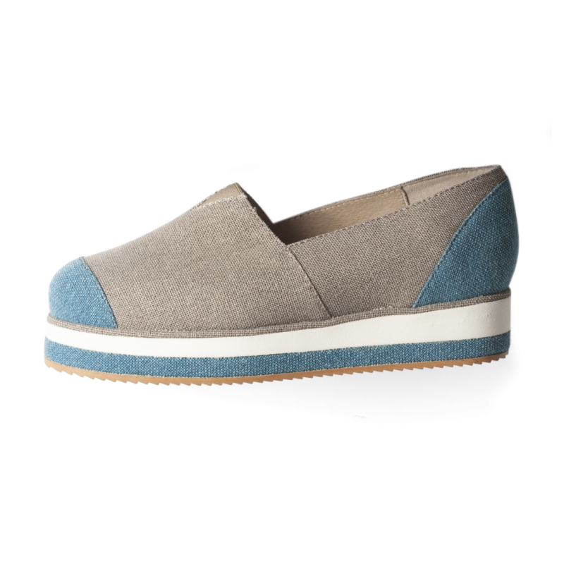 Blue or Stone Crown Espadrille