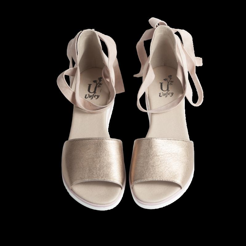 Adjustable tie up sandals