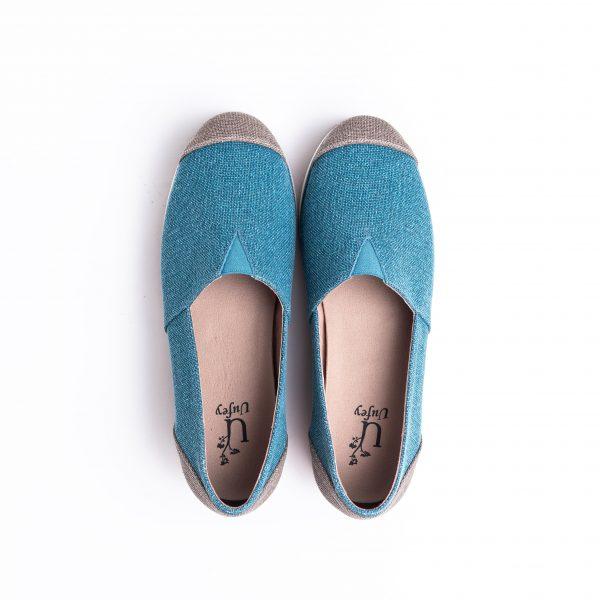 Crown espadrille blue